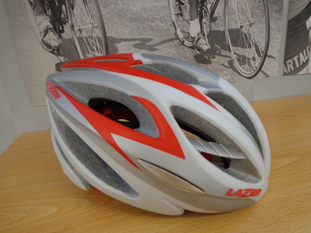 LAZER HELM BLADE 2 RD Race wit/rood maat L-XL 57-61 cm