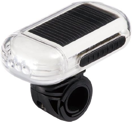 OWLEYE SOLAR POWER HEAD LIGHT Fietskoplamp zilver